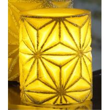 "4"" Gold Stella LED Candle"