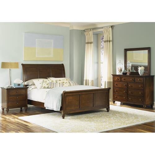 Liberty Furniture Industries - King Sleigh Bed, Dresser & Mirror, NS