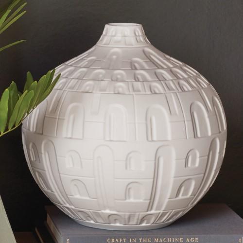 Coliseum Vase-Matte White-Lg