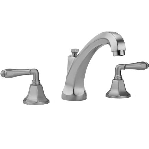 Jaclo - Sedona Beige - Astor High Profile Faucet with Smooth Lever Handles & Fully Polished & Plated Pop-Up Drain