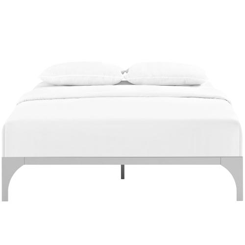 Ollie King Bed Frame in Silver