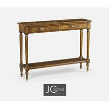 Country Walnut Parquet Console Table