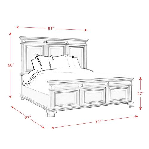 Calloway King Panel Bed in Grey