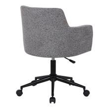 See Details - Andrew Office Chair - Black Metal, Dark Grey Fabric