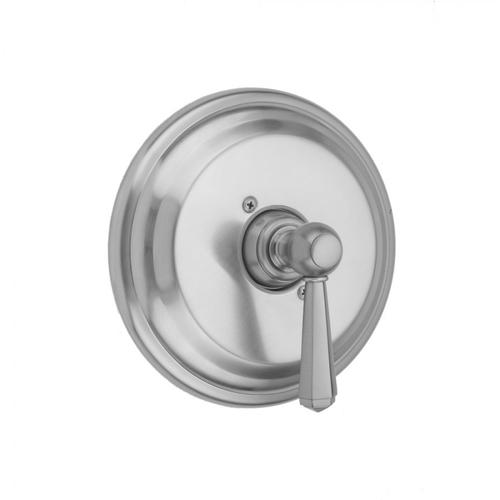 Polished Chrome - Round Step Plate With Hex Lever Trim For Pressure Balance Cycling Valve (J-CSV)