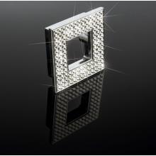 "Diamond Square Knob Width 2 3/8"" X Height 2 3/8"" Polished Chrome"
