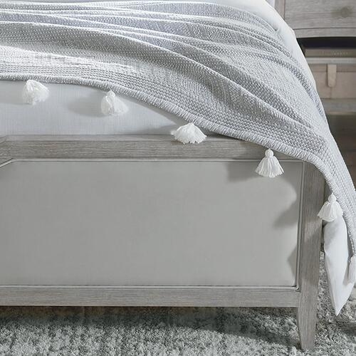 Savoy King Upholstered Bed, Footboard Low