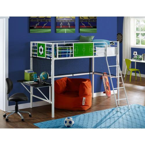 Twin Loft Bed, White