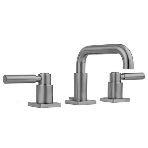 Antique Brass - Downtown Contempo Faucet with Square Escutcheons & High Lever Handles -1.2 GPM