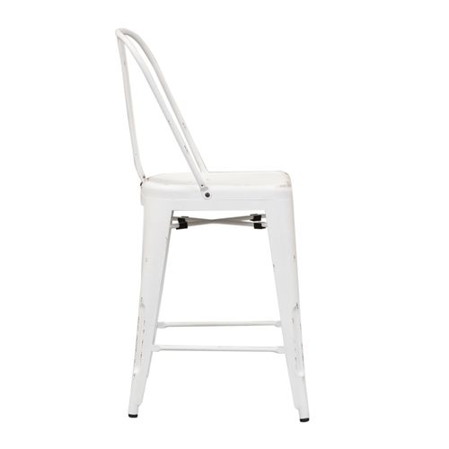 Bow Back Counter Chair - Antique White