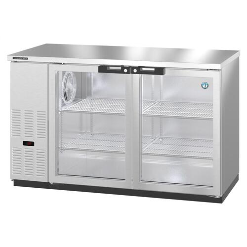 BB59-G-S, Refrigerator, Two Section, Stainless Steel Back Bar Back Bar, Glass Doors