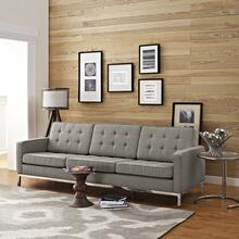 Loft Upholstered Fabric Sofa in Granite