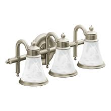 Waterhill Brushed nickel three globe bath light