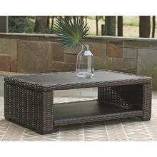 Grasson Lane Rectangular Cocktail Table Brown/Blue