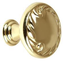Ornate Knob A3650-14 - Polished Brass