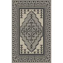 "Durable Flat Weave No Shedding Lifestyle 671 Area Rug by Rug Factory Plus - 2' x 7'5"" / Silver"