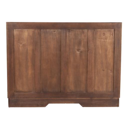 Jeffan - Gladys Cane Inset 2 Door Cabinet, Light Brown