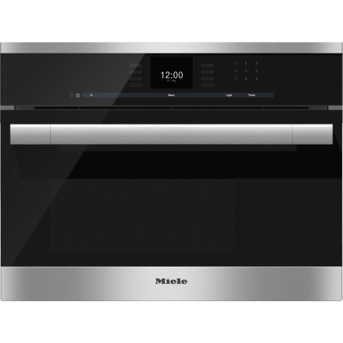 DG 6500 - Built-in steam oven with a large text display and SensorTronic controls for extra convenience.