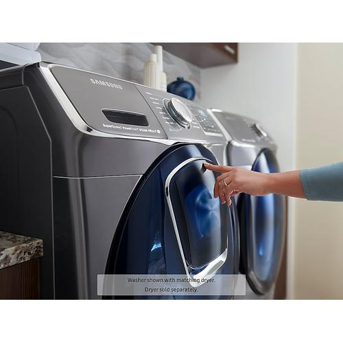 4.5 cu. ft. Smart Front Load Washer with AddWash™ in Black Stainless Steel