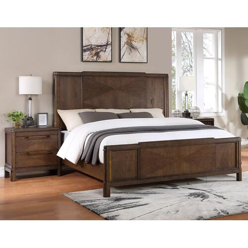 Steve Silver Co. - Milan 4-Piece King Bedroom Set (King Bed, Nightstand, Dresser/Mirror)