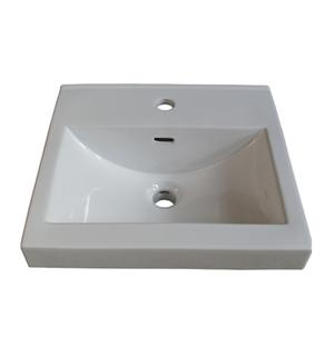 """18x16"""" White Ceramic Sink - single hole Product Image"""