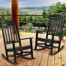 Set of 2 Winston All-Weather Rocking Chair in Black Faux Wood