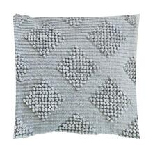 "(LS) Karina Woven Diamond Square Pillow (22"" x 22"") - Oatmeal"