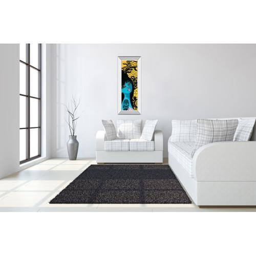 """Classy Art - """"Ink Chiffon I"""" By Bev Hogue Mirror Framed Print Wall Art"""