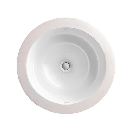 Dxv - Pop Round Under Counter Bathroom Sink - Canvas White