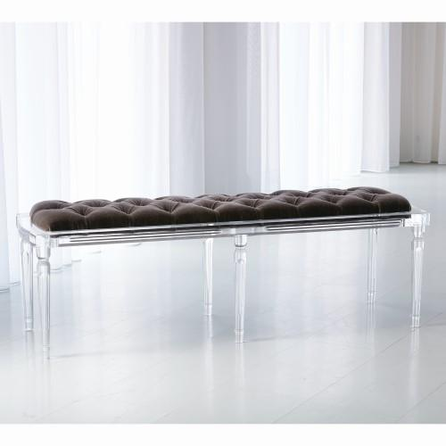 Marilyn Acrylic 6 Leg Bench-Brown Sugar