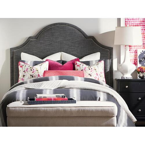 Custom Uph Beds Paris Cal King Arched Bed, Footboard Low, Insert Type Tufted