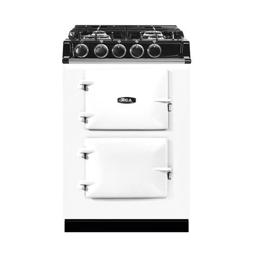 "AGA City 24"" Electric/Natural Gas White with Stainless Steel trim"