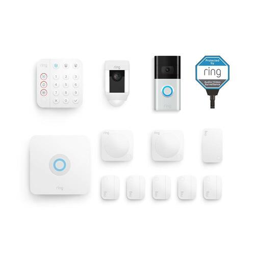 Ring - 10-Piece Deluxe Alarm Protection Kit (for 2nd Generation) - Black
