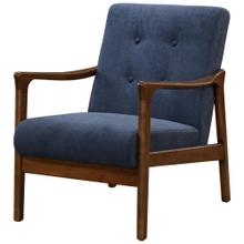 Nicholas KD Arm Chair Dark Walnut Frame, Studio Dark Blue