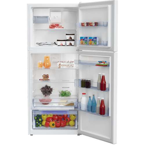 "28"" Freezer Top White Refrigerator with Auto Ice Maker"