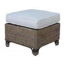 Exuma Ottoman w/beige cushion
