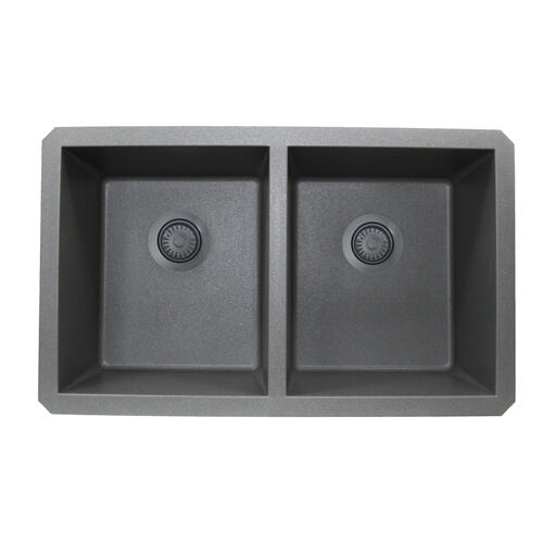 Nantucket Sinks - Titanium Disposer Flange with Strainer Kitchen Drain - For Granite Composite Sinks