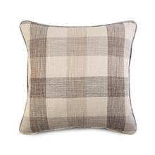 Decorative Throw Pillow with a Brown Plaid Pattern