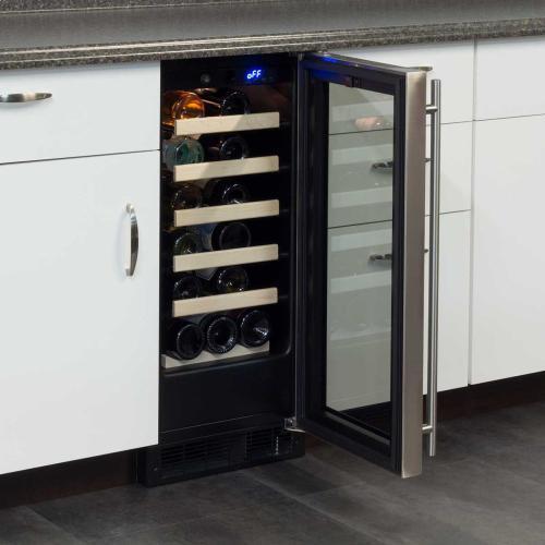 15-In Built-In Single Zone Wine Refrigerator with Door Swing - Right