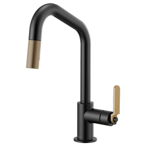Pull-down Faucet With Angled Spout and Industrial Handle Product Image