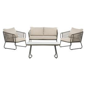 Benjin 4 Piece Living Set - Grey/beige