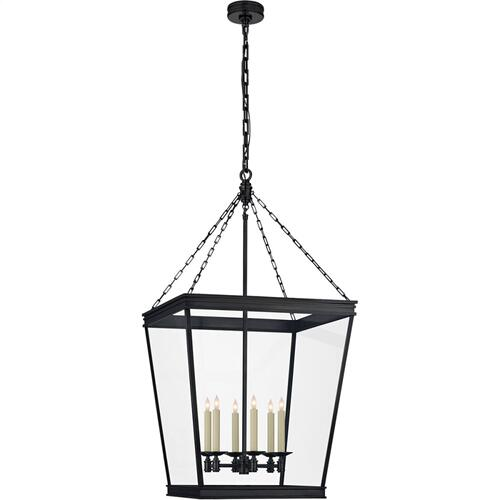 Visual Comfort CHC5612BZ-CG E. F. Chapman Launceton 4 Light 24 inch Bronze Foyer Lantern Ceiling Light, Large Square