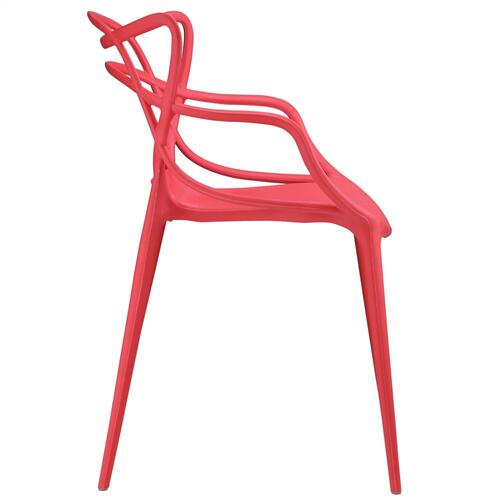 Entangled Dining Armchair in Red