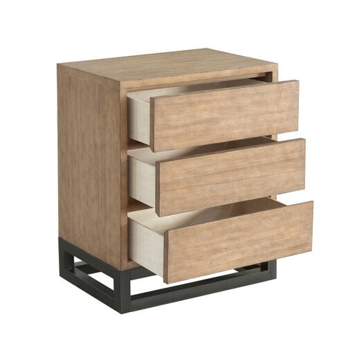 Accentrics Home - Natural Industrial Nightstand