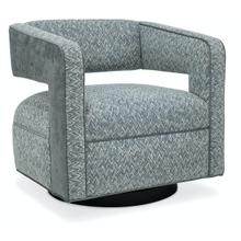 Living Room Mateo Swivel Chair - Wood Base