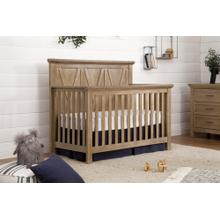 Emory Farmhouse 4-in-1 Convertible Crib in Driftwood Finish