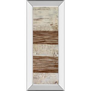 "Classy Art - ""White Stripes Il"" By Natalie Avondet Mirror Framed Print Wall Art"