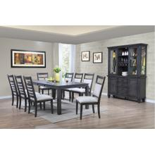 DLU-EL9282-C90-BH11PC  11 Piece Dining Set with China Cabinet  Gray
