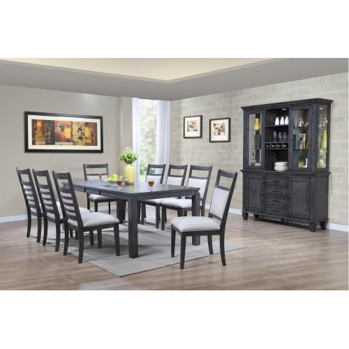 Dining Set with China Cabinet - Shade of Gray (11 Piece)
