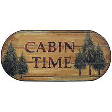 "Cozy Cabin Pine Cabin 20""x44"" Oval"